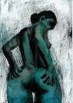 2003   Dein Rücken  II ,   29,7 x 21 cm ,   auf Papier