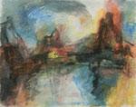 Dramatischer Moment,     Gouache/Pastell,     49 x 63,2 cm,     2009