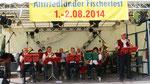 Die Oderbrucher Blasmusik beim Fischerfest in Alt Friedland