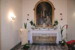 L'oratorio ricavato nella cella di S. Maddalena