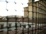 Una veduta del chiostro da una cella di S. Frediano
