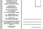 "Cartolina ""Iscriviti al Diabolik Club"" 2016 retro"