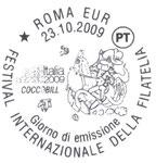 """Annullo poste Italiane """"CoccoBill"""" Roma EUR 23/10/2009"""