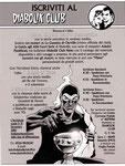 """Cartolina """"Iscrizione al Diabolik Club 2010"""""""