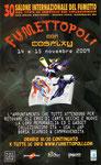 """Cartolina invito """"XXX Fumettopoli"""" 14 e 15 Novembre 2009"""