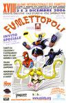 """Cartolina invito """"XVII Fumettopoli"""" 13 e 14 Maggio 2006"""