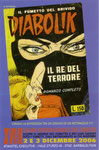 """Cartolina invito """"XIX Fumettopoli"""" 2 e 3 Dicembre 2006 con errore di stampa retro (Diabolik)"""