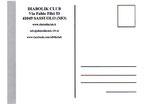 "Cartolina ""Pranzo assemblea Diabolik Club"" Poirino 22 Ottobre 2017 versione 2 retro"