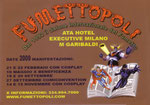 """Calendario tascabile di """"Fumettopoli"""" 2009 retro"""