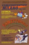 """Cartolina invito """"Comiconvention"""" Milano 2008 e Fumettopoli"""