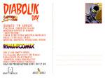 "Cartolina ""Riminicomix"" Diabolik Day - Luglio 2008 retro"