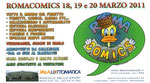 """Cartolina invito """"7° Borsa scambio  del fumetto"""" Ostia 17-18 Luglio 2010 retro"""
