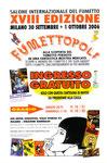 """Cartolina invito """"XVIII Fumettopoli"""" 30 Settembre e 1 ottobre 2006"""