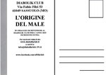 "Cartolina ""L'origine del male"" 2015 retro"