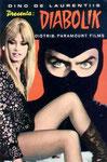 Cartolina film Diabolik allegata all'albo n° 4 anno VII viaggiata