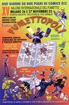 """Cartolina invito """"XV Fumettopoli"""" 26 e 27 Novembre 2005  3° versione"""