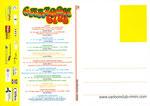 Cartolina Cartoon Club 1-30 Luglio 2005 retro