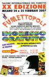 """Cartolina invito """"XX Fumettopoli"""" 24 e 25 Febbraio 2007"""