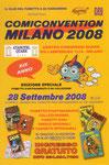"""Cartolina invito """"Comiconvention"""" Milano 2008"""
