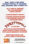 """Cartolina invito """"Fumettopoli"""" calendario retro"""