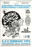 """Cartolina """"Torino Comics"""" Febbraio 1995"""