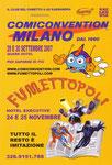 """Cartolina invito """"Comiconvention"""" Milano 2007 retro"""