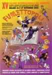 """Cartolina invito """"XV Fumettopoli"""" 26 e 27 Novembre 2005"""