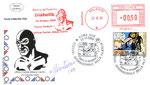 Busta figurativa mostra sul fumetto: Diabolik Milano 23/10/2009 con annullo postale Roma