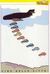 Cartolina Nuvole su strada disegno di Massimo Bucchi
