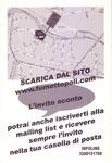 """Cartolina invito """"XV Fumettopoli"""" 26 e 27 Novembre 2005 2° versione retro"""