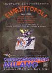Cartolina invito XXX Fumettopoli 14-15 Novembre 2009 retro