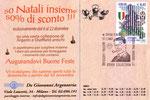 """Cartolina invito """"XX Fumettopoli"""" 24 e 25 Febbraio 2007 retro con annullo Piacenza"""