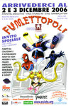 """Cartolina invito """"XIX Fumettopoli"""" 2 e 3 Dicembre 2006 - 2° versione"""