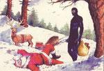 """Cartolina """"Natale"""" (non autorizzata) variante su carta speciale"""