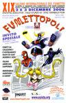 """Cartolina invito """"XIX Fumettopoli"""" 2 e 3 Dicembre 2006"""