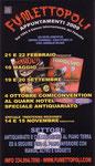 """Cartoline invito """"XXVII Fumettopoli"""" 21 e 22 Febbraio 2009 retro"""