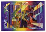 """Cartolina """"Diabolik"""" Luciano Proverbio 1997"""