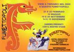 """Biglietto da visita """"Fumettopoli"""" 1° versione"""
