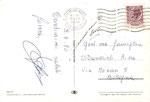 """Cartolina """"8408"""" Milano Marittima """"saluti"""" retro con Tecnograf via Sciuti 128 - Palermo"""