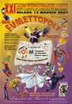"""Cartolina invito """"XXI Fumettopoli"""" 13 Maggio 2007"""