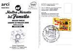 """Cartolina Anafi """"40° mostra mercato reggio emilia 2008"""" 2° edizione su cartoncino spesso con annullo """"41° Mostra mercato"""""""
