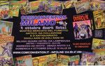 """Cartolina invito """"XXX Fumettopoli"""" 14 e 15 Novembre 2009 retro"""