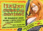 """Cartolina invito """"Fumettopolik"""" 10 Maggio 2009 retro"""