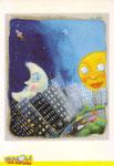 Cartolina Nuvole su strada disegno di Daniela Melazzi
