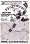 """Cartolina invito """"XVI Fumettopoli"""" 25 e 26 Febbraio 2006 retro"""