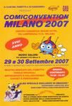 """Cartolina invito """"Comiconvention"""" Milano 2007"""