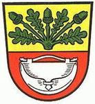 Wappen von Hausen bis zur Zusammenlegung der Ortsteile Obertshausen und Hausen im Jahr 1977