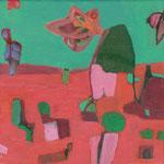 Die Blume von Jericho / Stefanie Anrig / Mischtechnik auf Leinwand / 20 cm x 20 cm