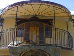тентовый козырек на балкон