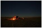 Einsames Camp in den Salzpfannen Botswana